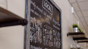 Main Street Local Kitchen chalkboard