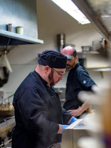 Chef Ryan in the kitchen at Main Street Local Kitchen