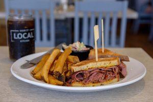 Main Street Local Kitchen roast beef sandwich