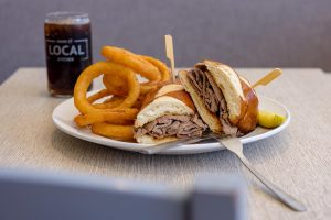 Main Street Local Kitchen roast beef sandwich